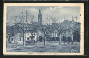 AK Capendu, Place de l`Hotel de Ville et la Poste