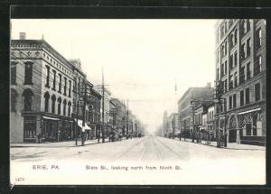 AK Erie, PA, State St., looking north from Ninth St.