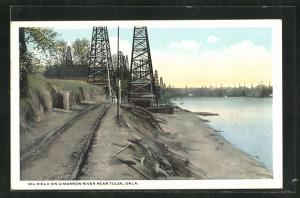 AK Tulsa, OK, Oil Field on Cimarron River