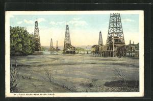 AK Tulsa, OK, Oil Field Scene