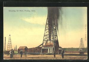 AK Findlay, OH, Shooting OIl Well