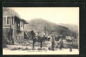 AK Thann, Passage a niveau pres de la Gare, Guerre 1914-1916