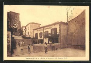 AK Biriatou, L`Eglise, le Restaurant et le Fronton