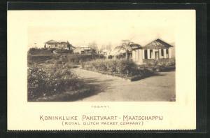 AK Tosari, Ortspartie an der Villa Maria