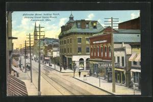 Künstler-AK Portsmouth, OH, Chillicothe Street looking north, showing Grand Opera House