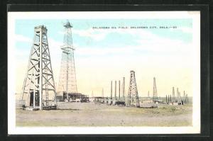 Künstler-AK Oklahoma City, OK, Oil Field