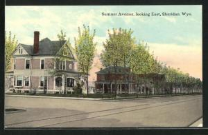 AK Sheridan, WY, Sumner Avenue, looking East