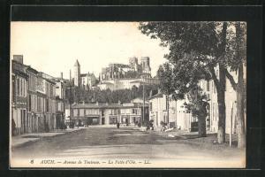 AK Auch, Avenue de Toulouse, La Patte d`Oie, Kathedrale