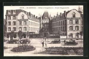 AK Saint_brieuc, Hotel d'Angleterre, Place Duguesclin