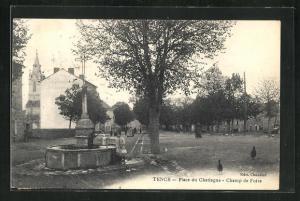 AK Tence, Place du Chataigue, Champ de Foire