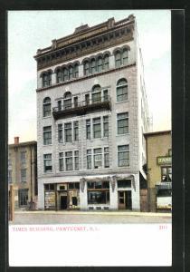 Künstler-AK Pawtucket, RI, Times Building