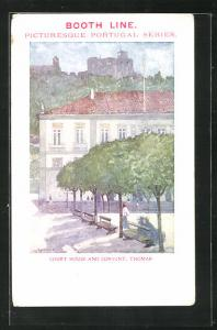 Künstler-AK Thomar, Court House and Convent