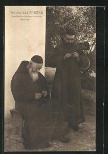 AK Cordoba, Las Ermitas, Ermitanos confeccionando rosarios