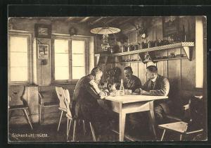AK Sickenbühl-Hütte, Herren am Stammtisch