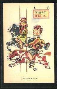 AK Kinder fahren Karussell