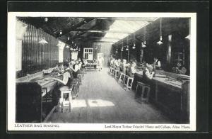 AK Lord Mayor Treloar Cripples'Home and College, Leather Bak Making, Ledertaschenherstellung