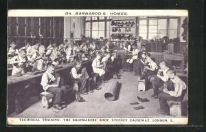 AK Dr. Barnardo's Homes, Technical Training, the Bootmaker's Shop at London