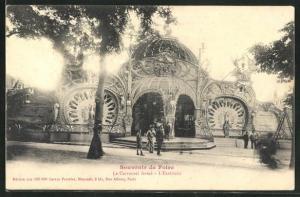 AK Paris, Foire, Le Carrousel fermé