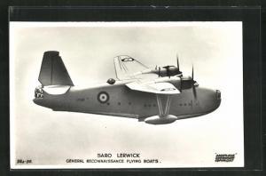 AK Saro Lerwick, General Reconnaissance Flying Boats, Wasserflugzeug in den Lüften