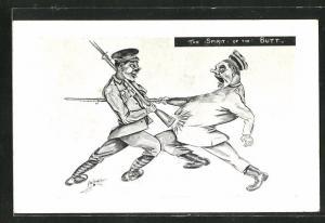 AK Soldaten bekämpfen sich, The Spirit of the Butt, Propaganda Entente