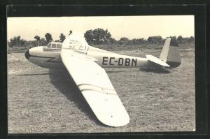 AK Segelflugzeug vor dem Start