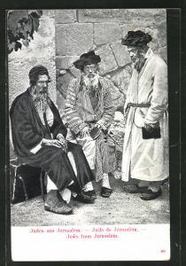 AK Jerusalem, Juden auf der Strasse