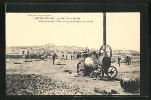 AK Campana del Rif 1921 - Monte Arruit, Lokomobil