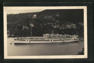 AK Lazarettschiff HMHS Somersteshire liegt vor Anker