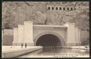 AK Marseille, Tunnel du Roye, Canal de Marseille au Rhone