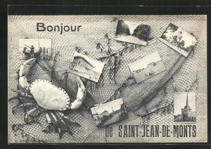 AK Saint-Jean-de-Monts, verschiedene Ortsansichten