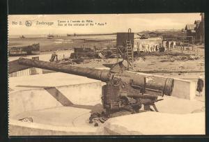 AK Zeebrugge, Canon a l'entree du Mole