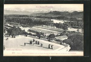 AK Pau, Nouvelle Terrasse de la Place Royale et Partie est de la Chaine des Pyrenees