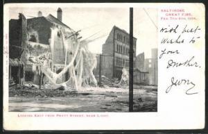 AK Baltimore, MD, looking east from Pratt Street, vereistes Haus 1904