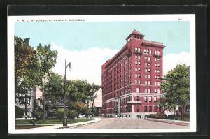 Künstler-AK Detroit, MI, Y.M.C.A. Building