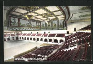 Künstler-AK St. Paul, MN, Auditorium as a Convention Hall