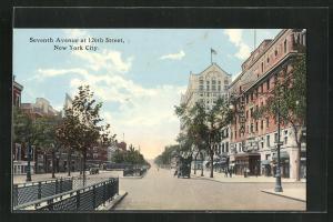 Künstler-AK New York, NY, Seventh Avenue at 126th Street