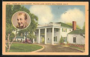 Künstler-AK North Hollywood, CA, Home of Bing Crosby, Toluca Lake