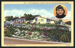 Künstler-AK Westwood, CA, La Californiana Home of Jane Withers
