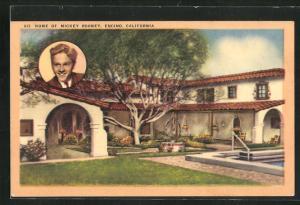 Künstler-AK Encino, CA, Home of Mickey Rooney