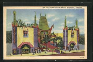 Künstler-AK Hollywood, CA, Grauman's Chinese Theatre