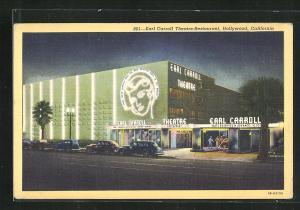 Künstler-AK Hollywood, CA, Earl Carroll Theatre, Restaurant
