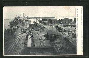 AK Quincy, MA, the 75 Ton Crane Pier & Battleship Vermont