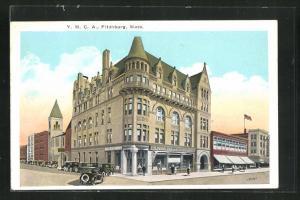 Künstler-AK Fitchburg, MA, Y.M.A.C. Building