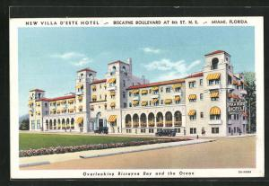Künstler-AK Miami, FL, New Villa d'Este Hotel