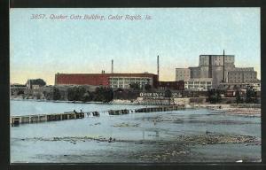 Künstler-AK Cedar Rapids, IA, Quaker Oats Building