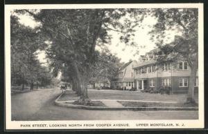 AK Upper Montclair, NJ, Park Street, looking north from Cooper Avenue