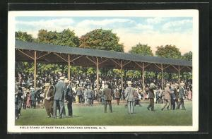 Künstler-AK Saratoga Springs, NY, Field stand at Race Track