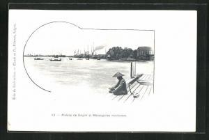 AK Saigon, Rivière de Saigon et Messageries Maritimes