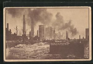 AK Salem, MA, Burning of the Naumkeag Mills 1914