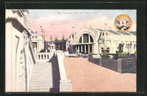 AK Seattle, WA, World`s Fair 1909, Looking West on Yukon Avenue